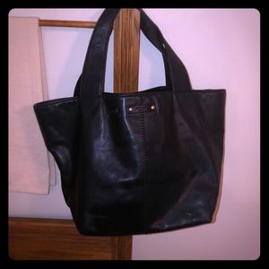 Kate Spade black soft leather med handbag